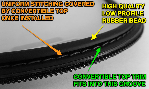 Replacement Bmw Z3 Window Rubber Bead Vs Fabric Trim 171 Z3